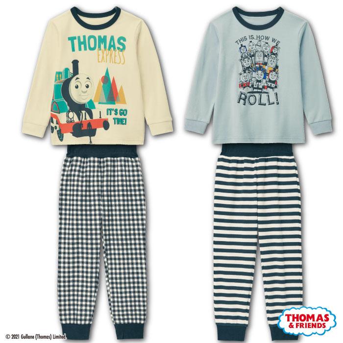左:トーマスのみのシンプルでおしゃれなデザイン、右:トーマスとなかまたちがたくさん集まったデザイン
